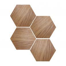 hexagon drewniany fab natura